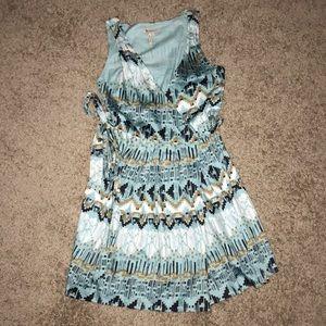 BCBGeneration printed wrap dress, size 10
